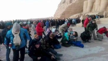 تعامد الشمس بمعبد أبو سمبل اليوم السبت