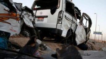 تصادم باص حضانة بربع نقل بالقليوبية.. مصرع سائق وإصابة 11 طفلا