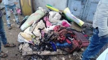 حرائق في قرية 47 الشراقوة بكفر الشيخ