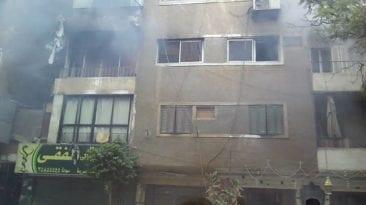 مصرع 3 أطفال ووالدهم في حريق شقة بفيصل: ماس من مدفأة