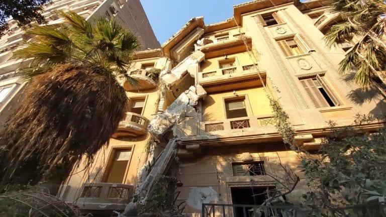 انهيار عقار أثري بشكل جزئي في القاهرة
